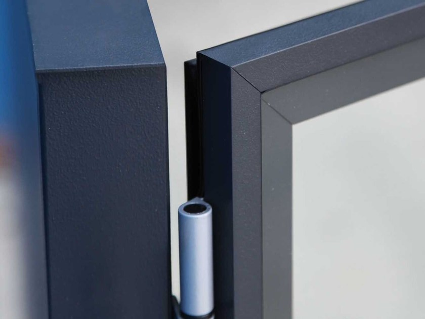 Double-sided steel notice board BACH - Metalco