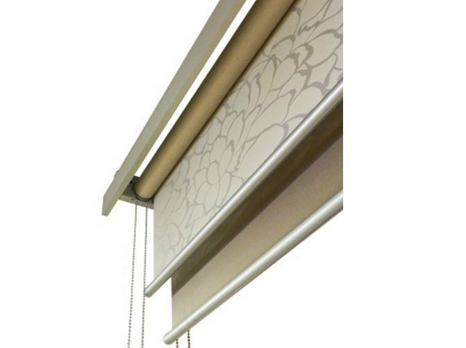 Fabric roller blind LAYLIGHT® LINEO DOUBLE TUBE by RESSTENDE