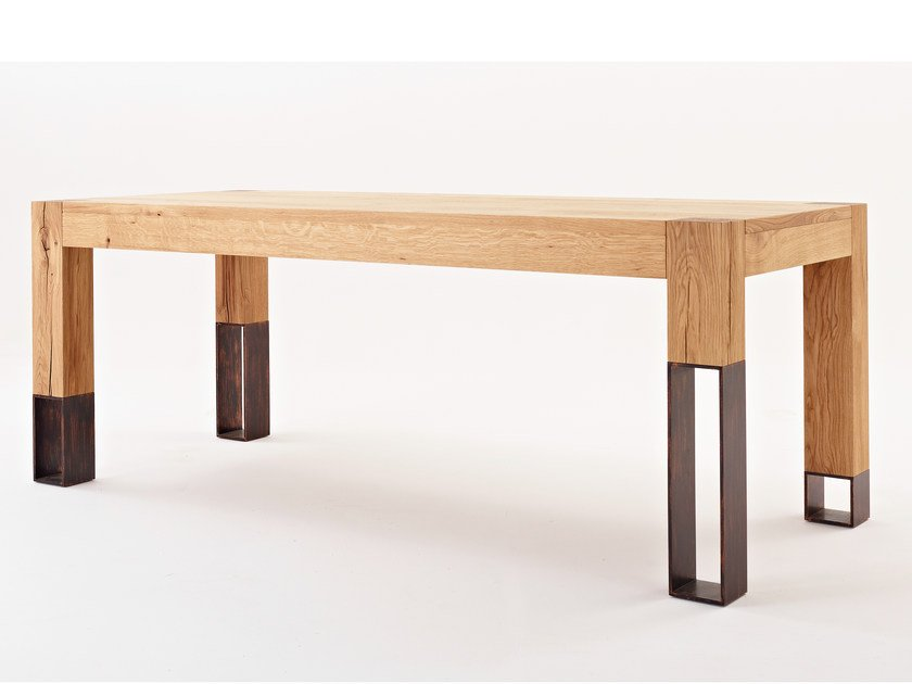 Rectangular oak living room table ACQUA ALTA - Colico