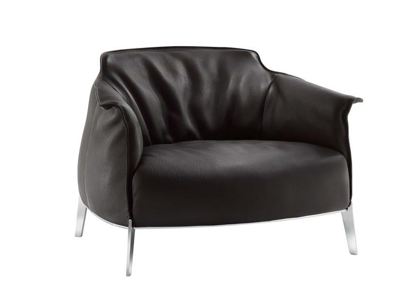 Armchair with armrests ARCHIBALD GRAN COMFORT - Poltrona Frau