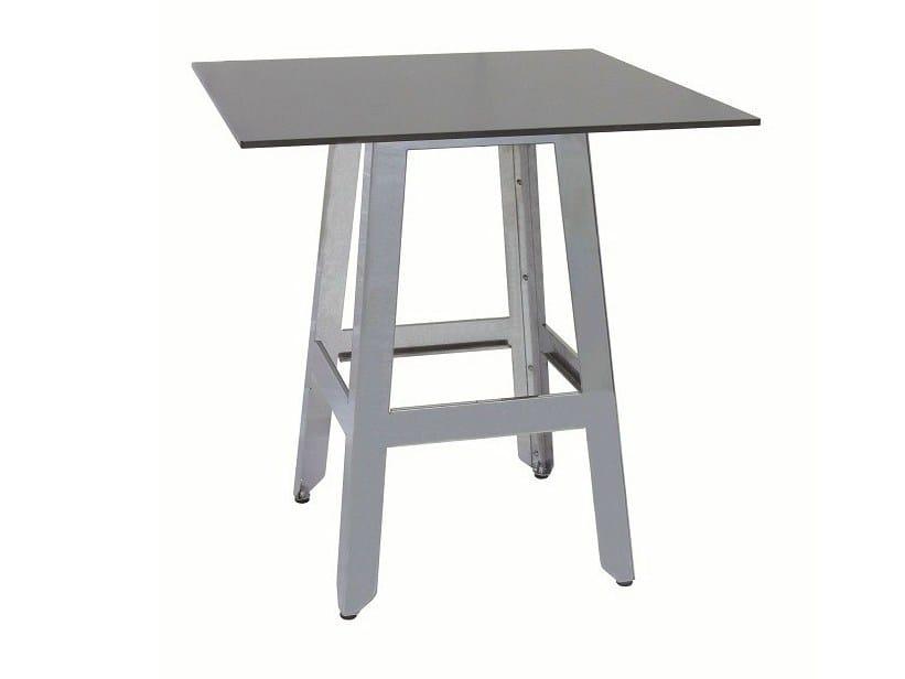 Stainless steel contract table MARTINO-4 - Vela Arredamenti