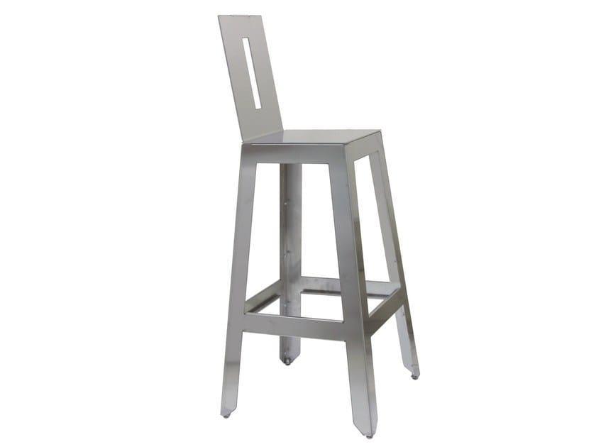 Stainless steel counter stool SG-MARTINO-4-X - Vela Arredamenti