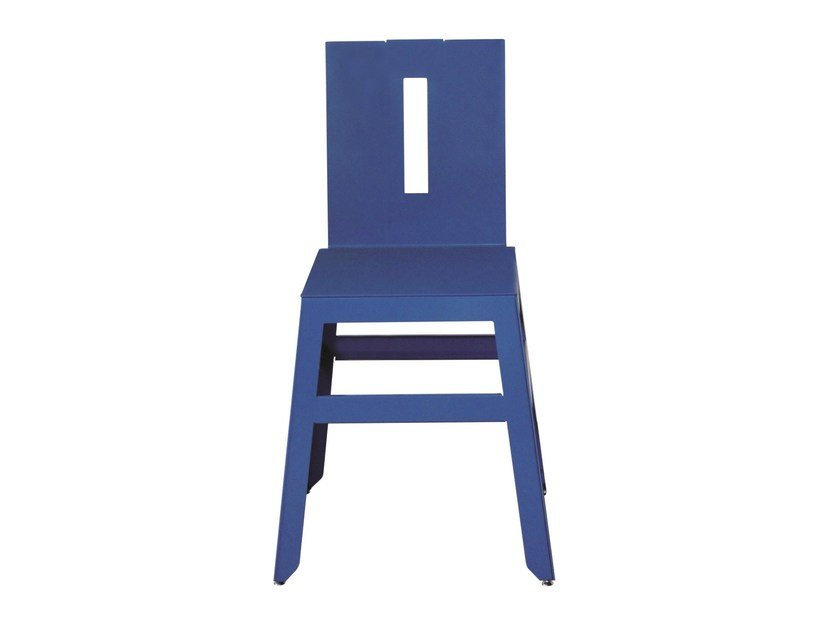 Iron restaurant chair SD-MARTINO-RAL - Vela Arredamenti
