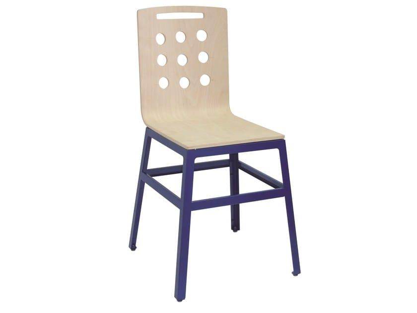 Wooden restaurant chair SD-MARTINO-G-RAL-W - Vela Arredamenti