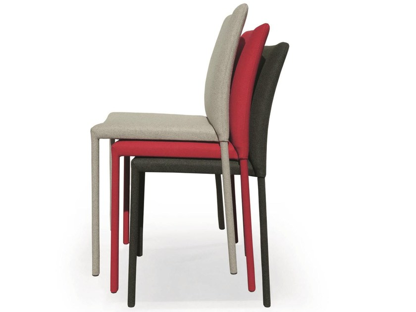 Upholstered fabric chair GAIA | Stackable chair - RIFLESSI