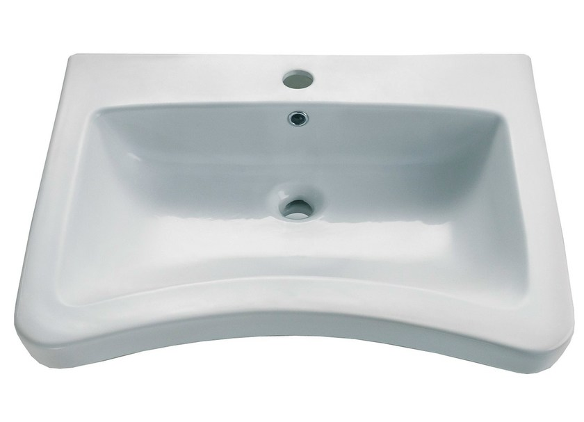 Wall-mounted porcelain washbasin STYLE 47 | Washbasin - EVER by Thermomat Saniline