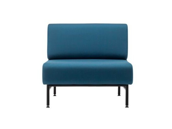 Upholstered modular fabric guest chair S 651 by THONET