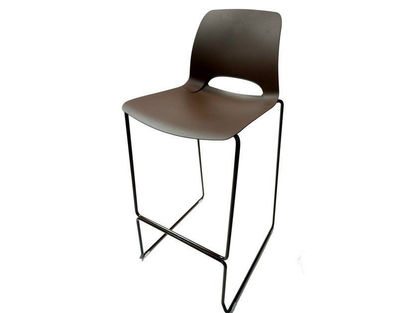 Counter stool with footrest KATIA | Counter stool - RIFLESSI