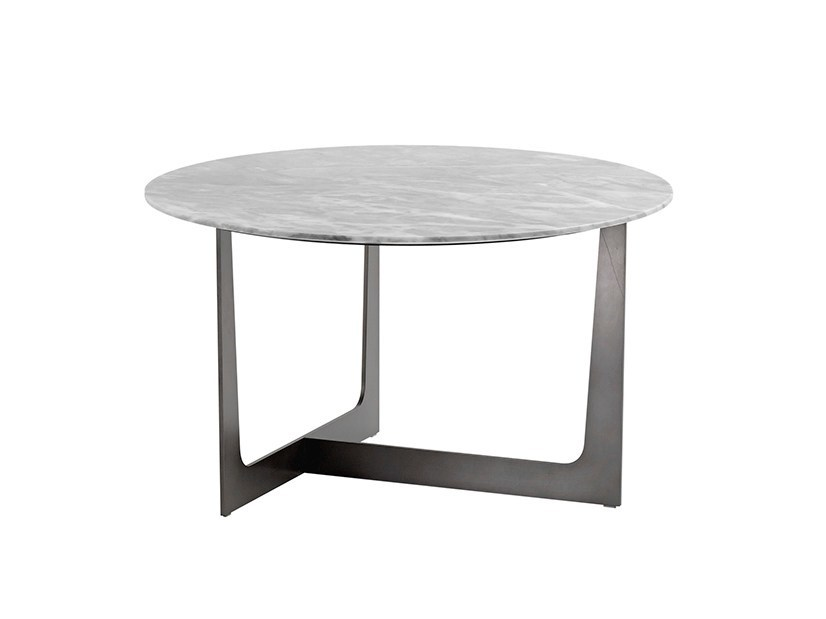 Round marble coffee table ILARY | Round coffee table by Poltrona Frau