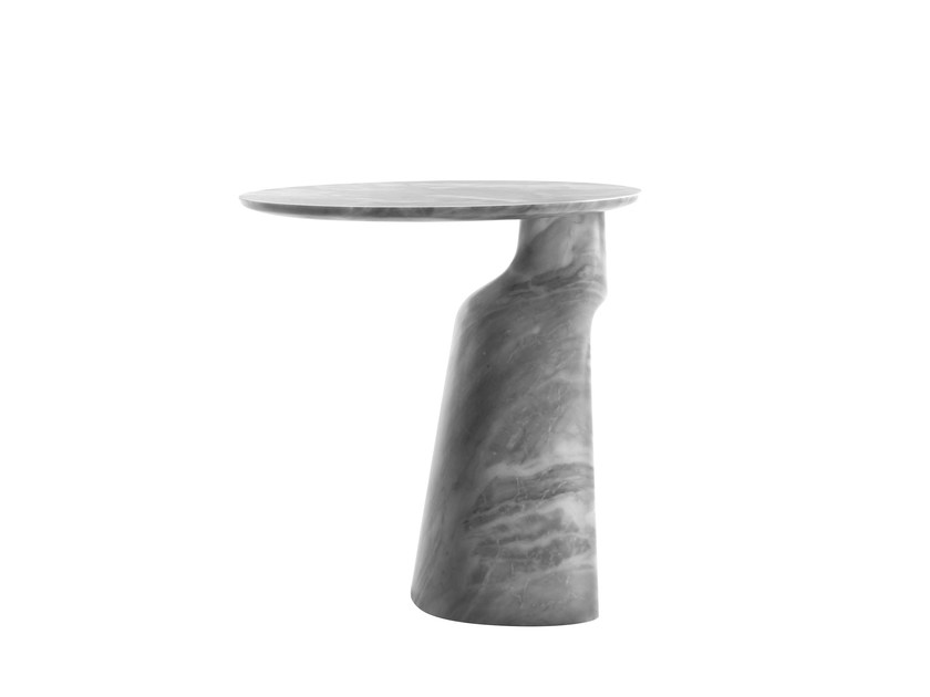 Contemporary style round marble side table ILARY | Marble coffee table - Poltrona Frau