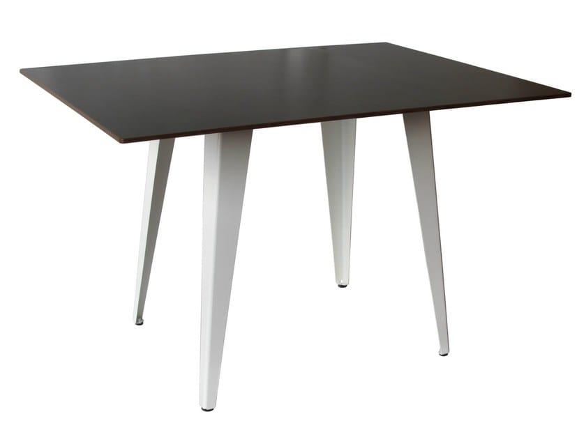 Steel contract table TV-TONIC-4-80-RAL - Vela Arredamenti