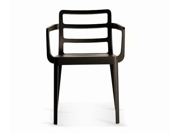 Wooden restaurant chair SD-MERIGGIO-B - Vela Arredamenti