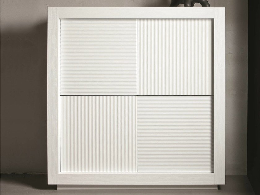 Wooden highboard with doors PICASSO   Highboard - RIFLESSI