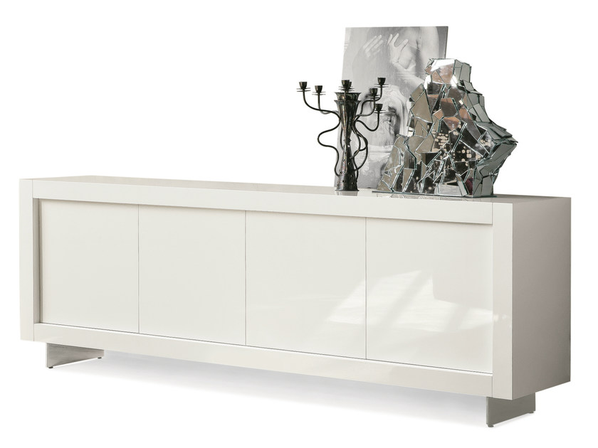 Wooden sideboard with sliding doors PICASSO P12 | Wooden sideboard - RIFLESSI