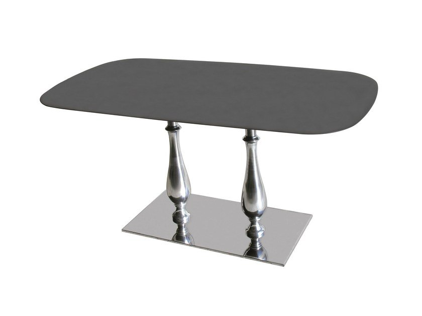 Stainless steel contract table SLIM-84-2-LIB - Vela Arredamenti