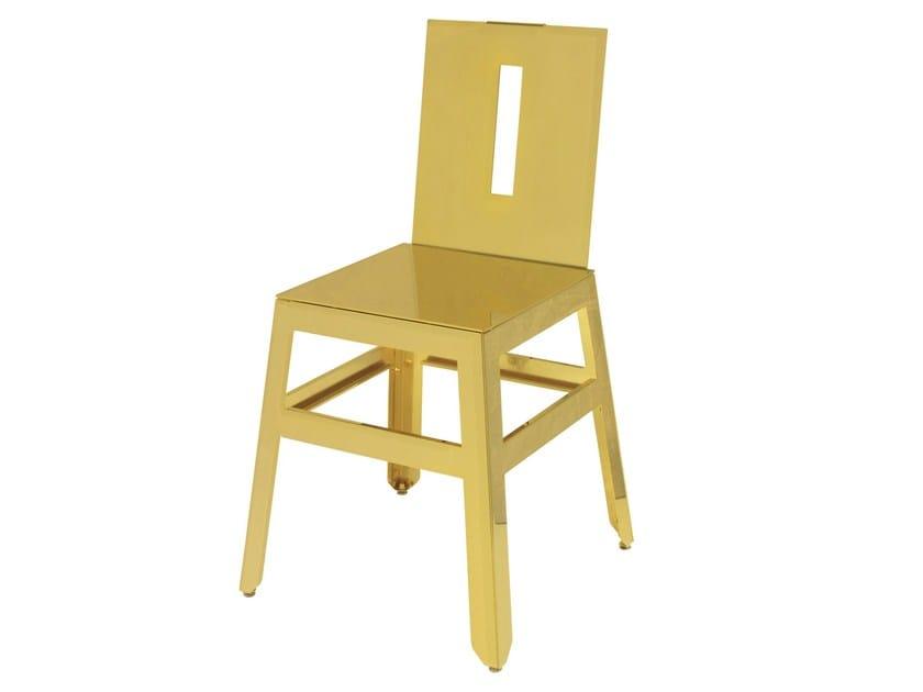 Steel restaurant chair SD-MARTINO-GOLD - Vela Arredamenti