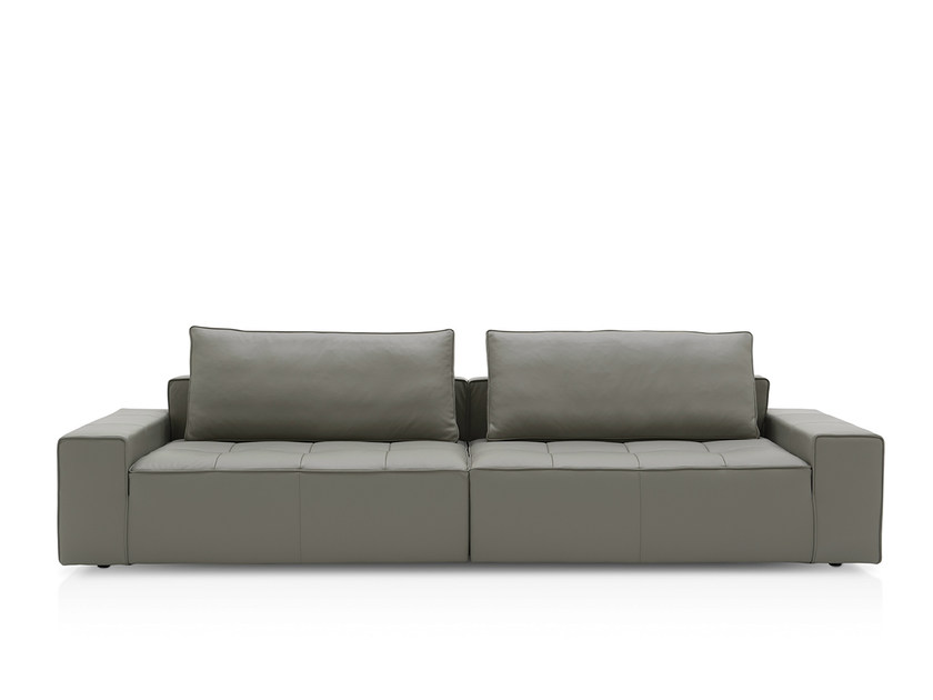 Sectional leather sofa LOUNGE EASY by Calligaris