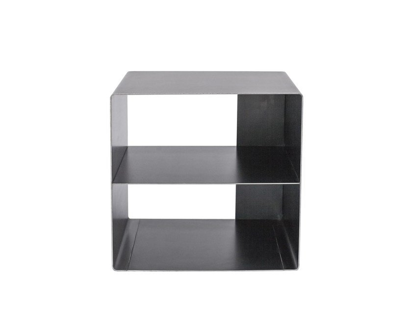 Square steel bedside table QUATTRO | Bedside table - VIDAME CREATION