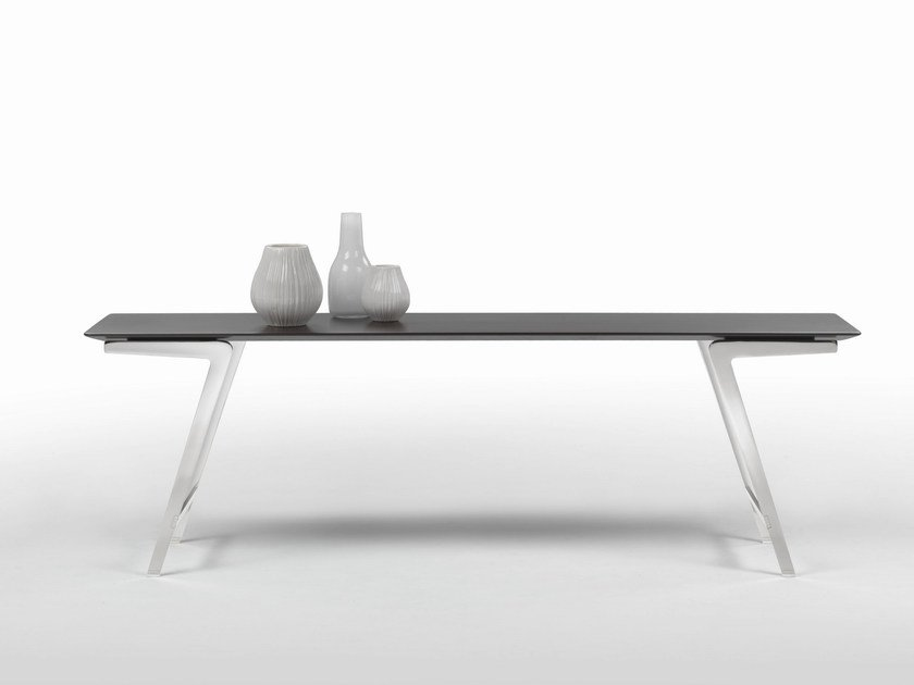 Rectangular wooden console table SOFFIO | Wooden console table - FLEXFORM