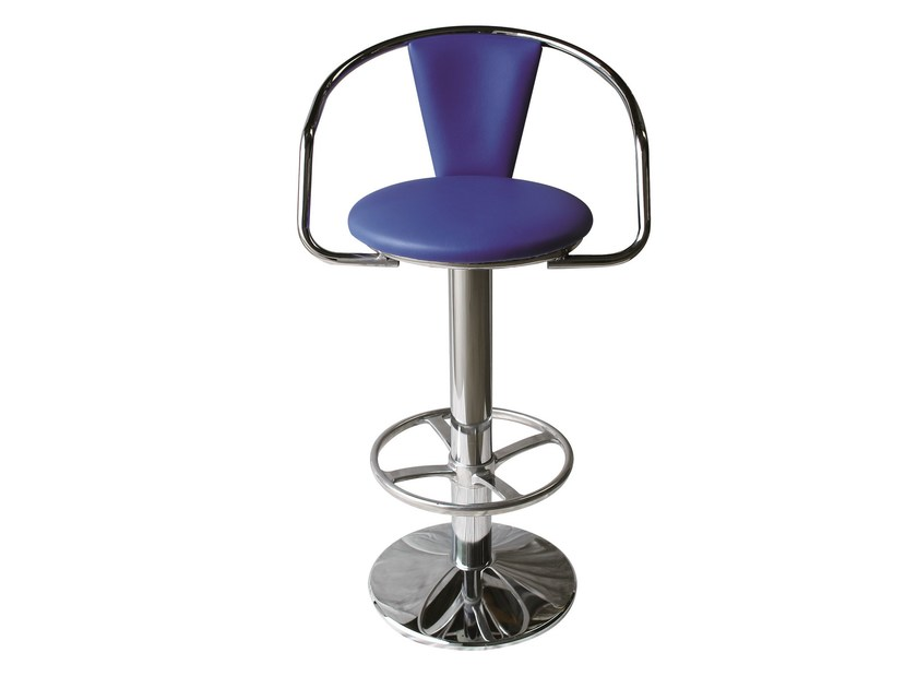 Swivel upholstered counter stool SG-PACHA-CR - Vela Arredamenti