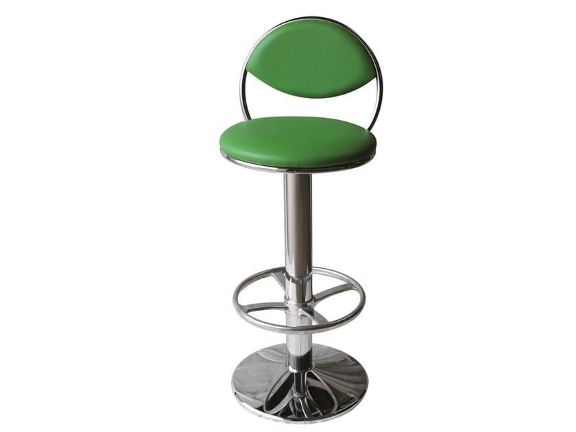 Swivel counter stool with footrest SG-LUNA-FCR - Vela Arredamenti