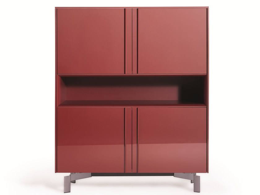 Lacquered highboard with doors PASS-WORD | Highboard - MOLTENI & C.