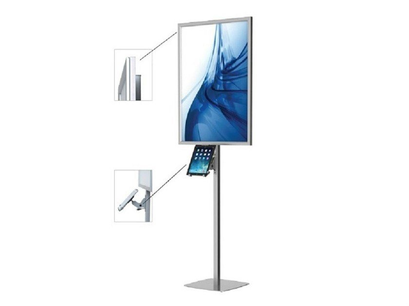 Display unit Porta tablet autoportante LED con poster - STUDIO T
