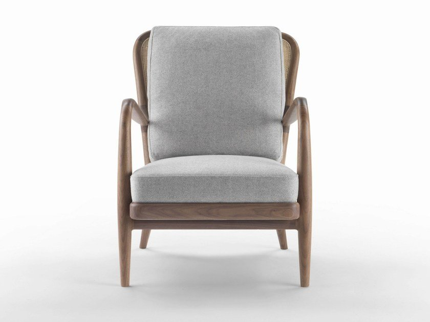 Upholstered fabric armchair with armrests AGAVE | Armchair - FLEXFORM