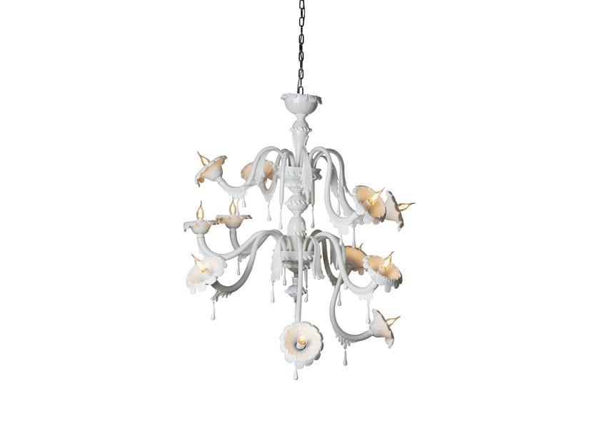 Glass chandelier AU REVOIR | Chandelier - Karman