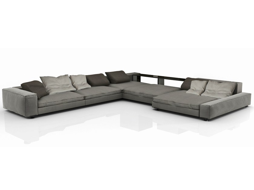 Sectional fabric sofa with removable cover MYFAIR | Sofa - Nube Italia