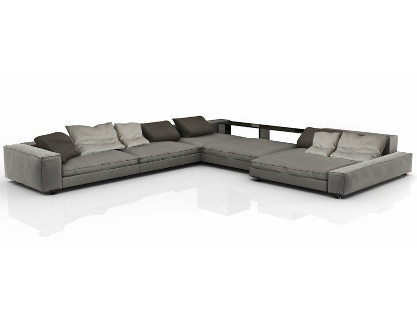 Sectional fabric sofa with removable cover MYFAIR | Sofa by Nube Italia