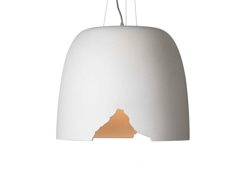 White-paste pendant lamp CRASH | Pendant lamp - Karman
