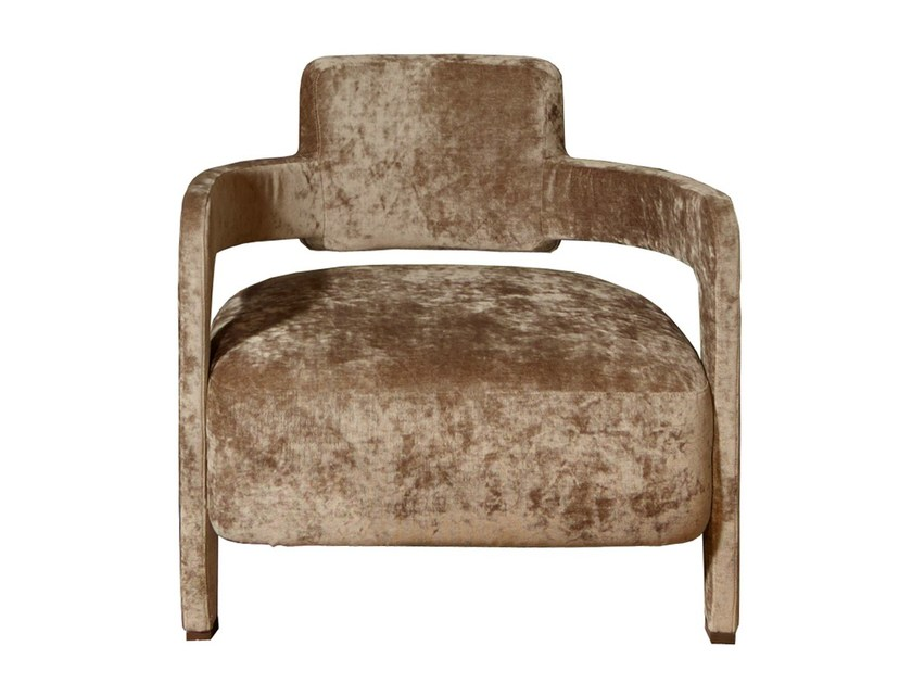 Upholstered fabric armchair with armrests JACKIE - Nube Italia