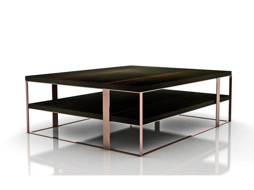 Square wooden coffee table FLOW | Square coffee table - Nube Italia