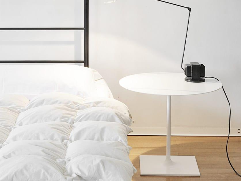 Low aluminium coffee table PIN | Tavolino ovale - iCarraro italian makers