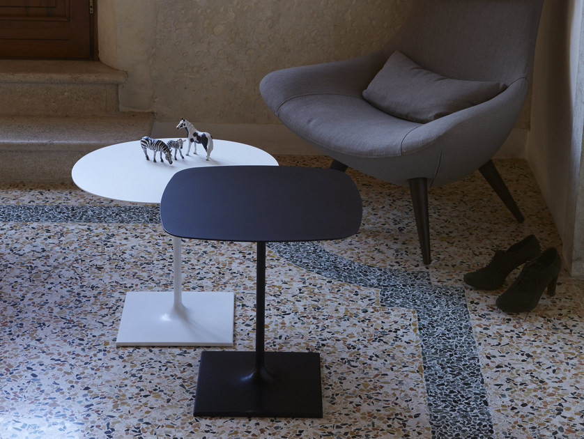 Square aluminium coffee table PIN | Square coffee table - iCarraro italian makers