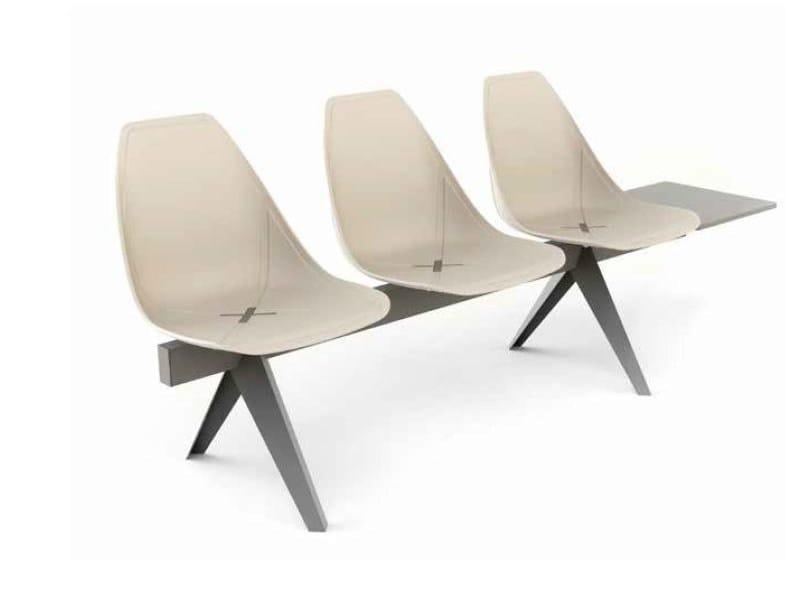 Freestanding polypropylene beam seating X BEAM - ALMA DESIGN