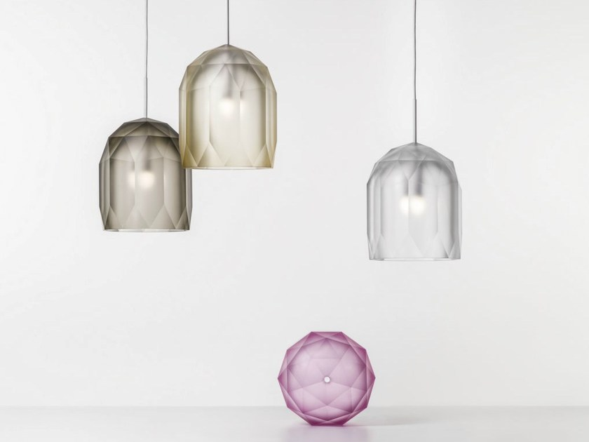 LED blown glass pendant lamp POLYGON - Lasvit