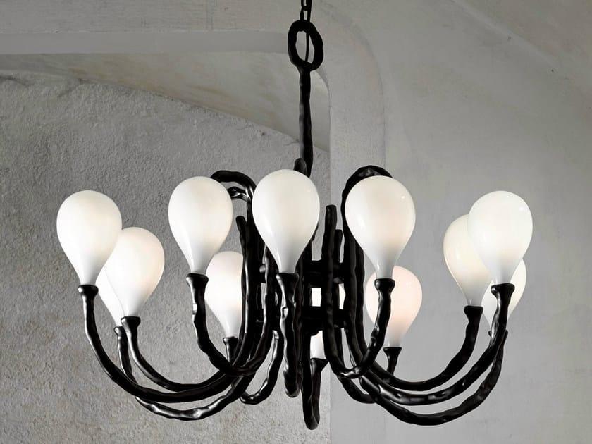 Halogen blown glass chandelier DAS POP | Blown glass chandelier - Lasvit
