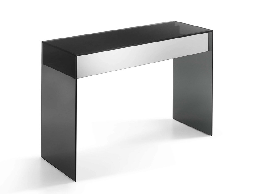 Rectangular glass console table GOTHAM | Console table - T.D. Tonelli Design