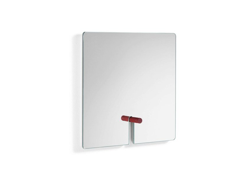 Rectangular wall-mounted mirror PARTNER - T.D. Tonelli Design