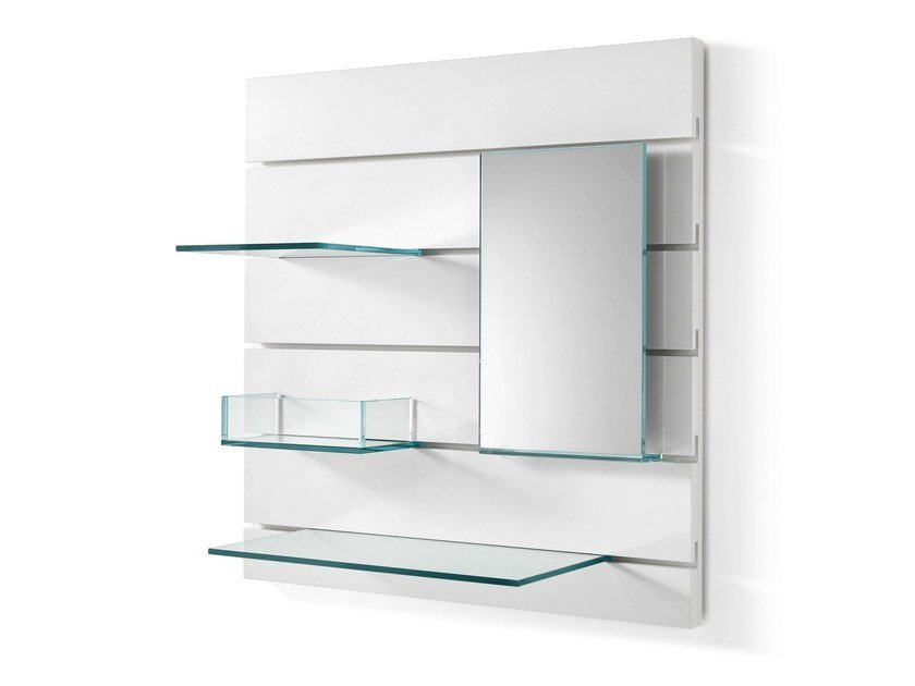 Glass mirror / wall shelf IN-FILA - T.D. Tonelli Design