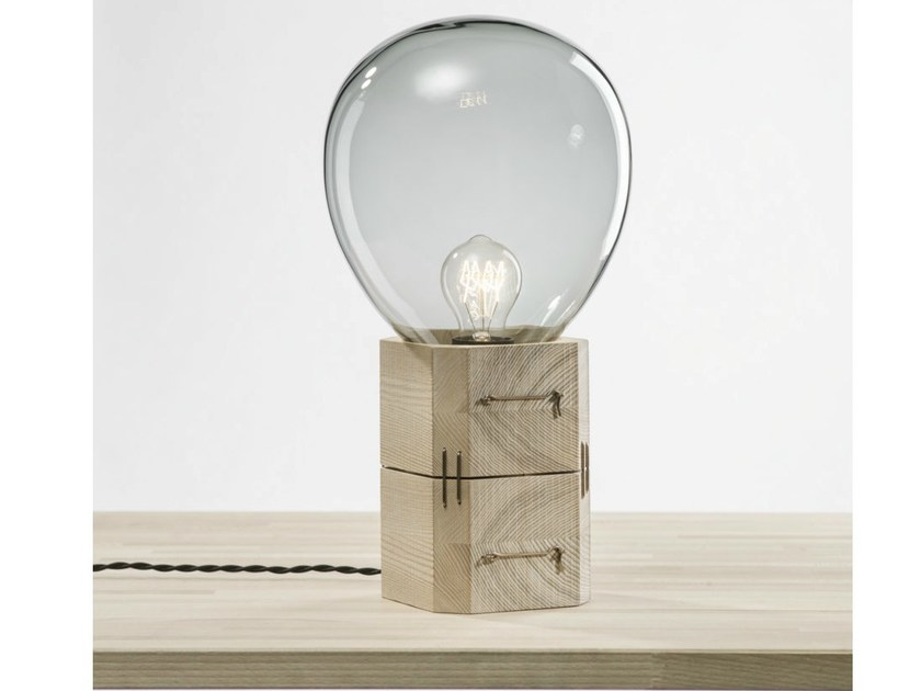 Contemporary style wooden table lamp MOULDS | Table lamp - Lasvit