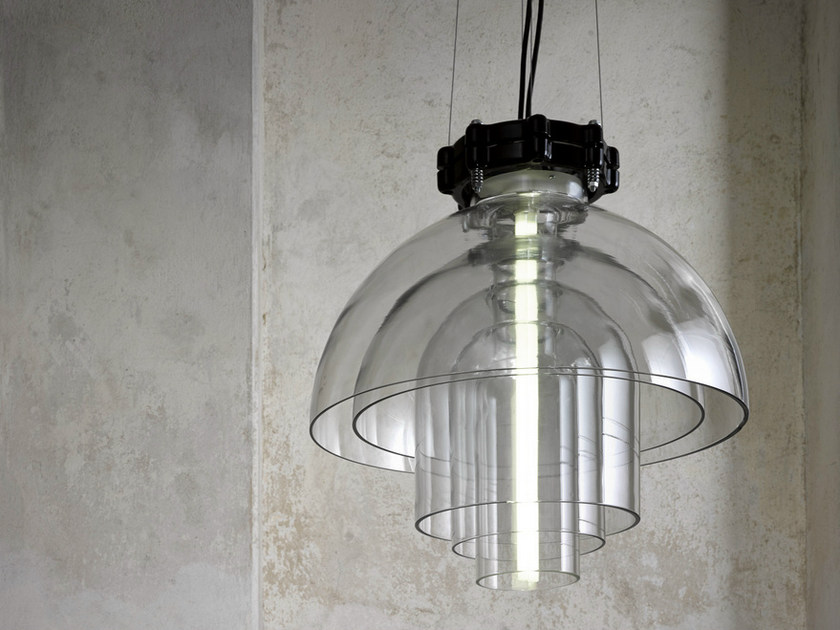 Borosilicate glass pendant lamp TRANSMISSION | Pendant lamp - Lasvit