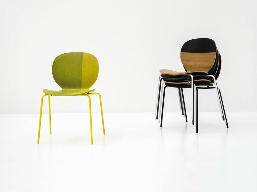 Stackable wooden chair KELLY C | Wooden chair - Tacchini Italia Forniture
