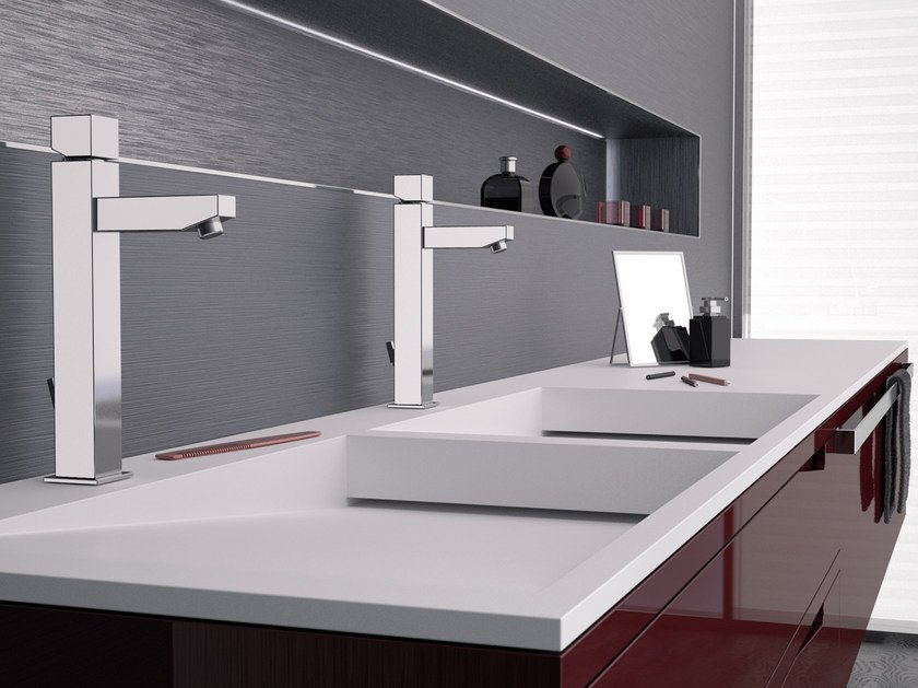 Countertop single handle washbasin mixer OXY | Countertop washbasin mixer - Daniel Rubinetterie