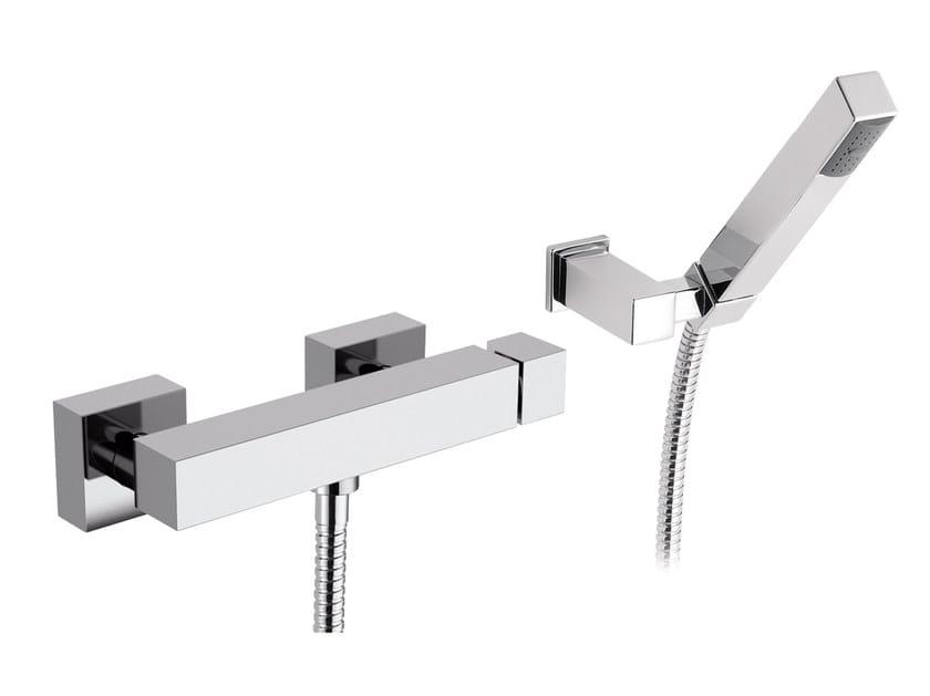 Single handle shower mixer with hand shower with polished finishing OXY   Shower mixer with hand shower - Daniel Rubinetterie