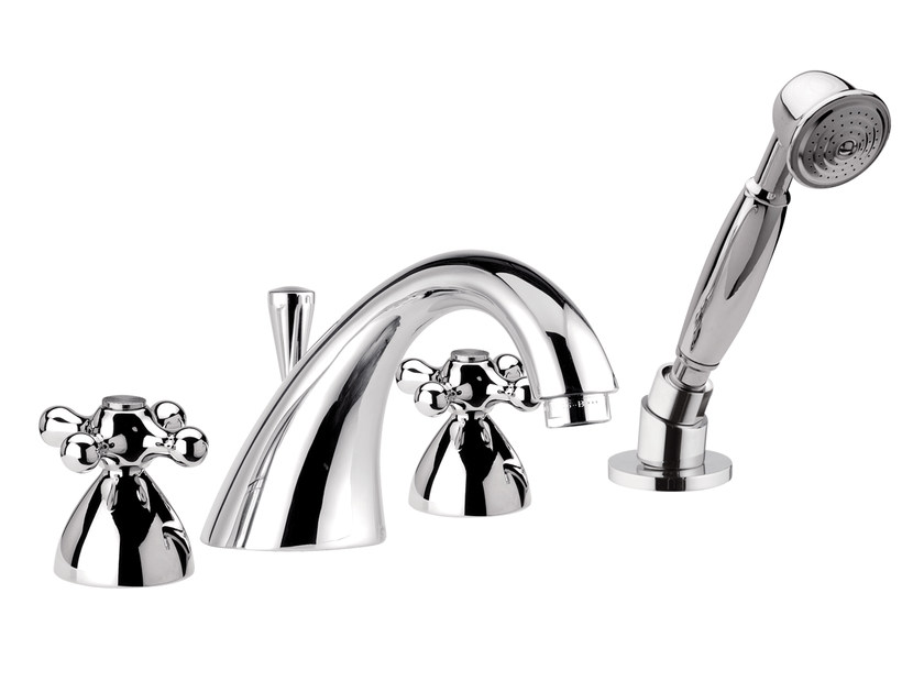 4 hole bathtub set with hand shower REVIVAL | Bathtub set - Daniel Rubinetterie
