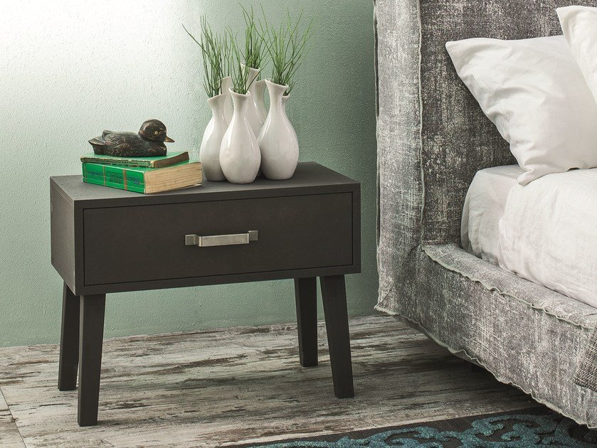 Bedside table with drawers LC 52 by Letti&Co.