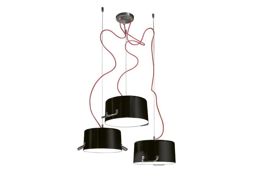 Aluminium pendant lamp POTS 3 - Minacciolo
